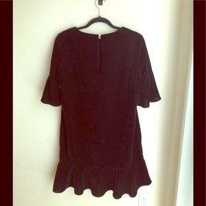 Zara black velvet dress NEW